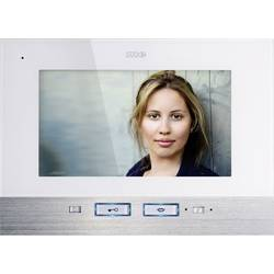 Kabelový domovní video telefon m-e modern-electronics, bílá, nerezová ocel, vnitřní jednotka
