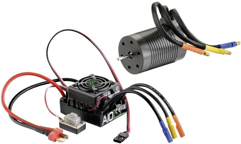 Striedavý (brushless) motor a regulátor otáčok, sada pre RC modely Absima Thrust 3S Eco, 1:10