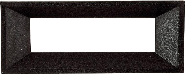 Predný rámček Strapubox AR 4 A, vhodný pro LCD displej 4-miestny, čierna, umelá hmota