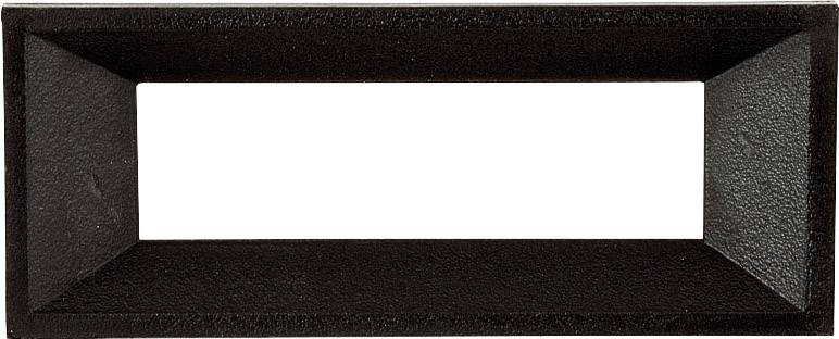 Rámeček pro LCD/LED displeje 38x19 mm Vhodné pro: LCD displej 3místný Strapubox AR 3, černá