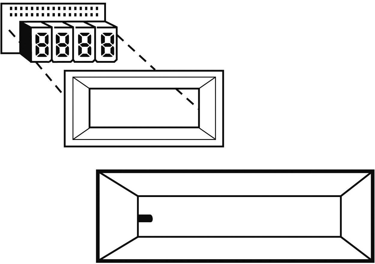 Predný rámček Strapubox AR 6 A, vhodný pro LCD displej 6-miestny, čierna, umelá hmota