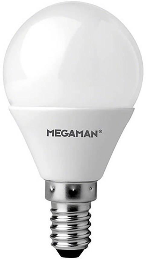 LED žárovka Megaman MM21095 12 V DC/AC, E14, 3.5 W = 25 W, teplá bílá, A+, kapkovitý tvar, 1 ks