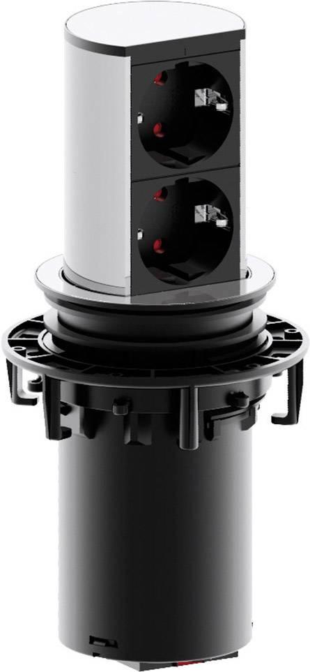 Zásuvkový sloupek Bachmann ELEVATOR 928.002, počet zásuvek 2, 2.00 m, stříbrná, černá
