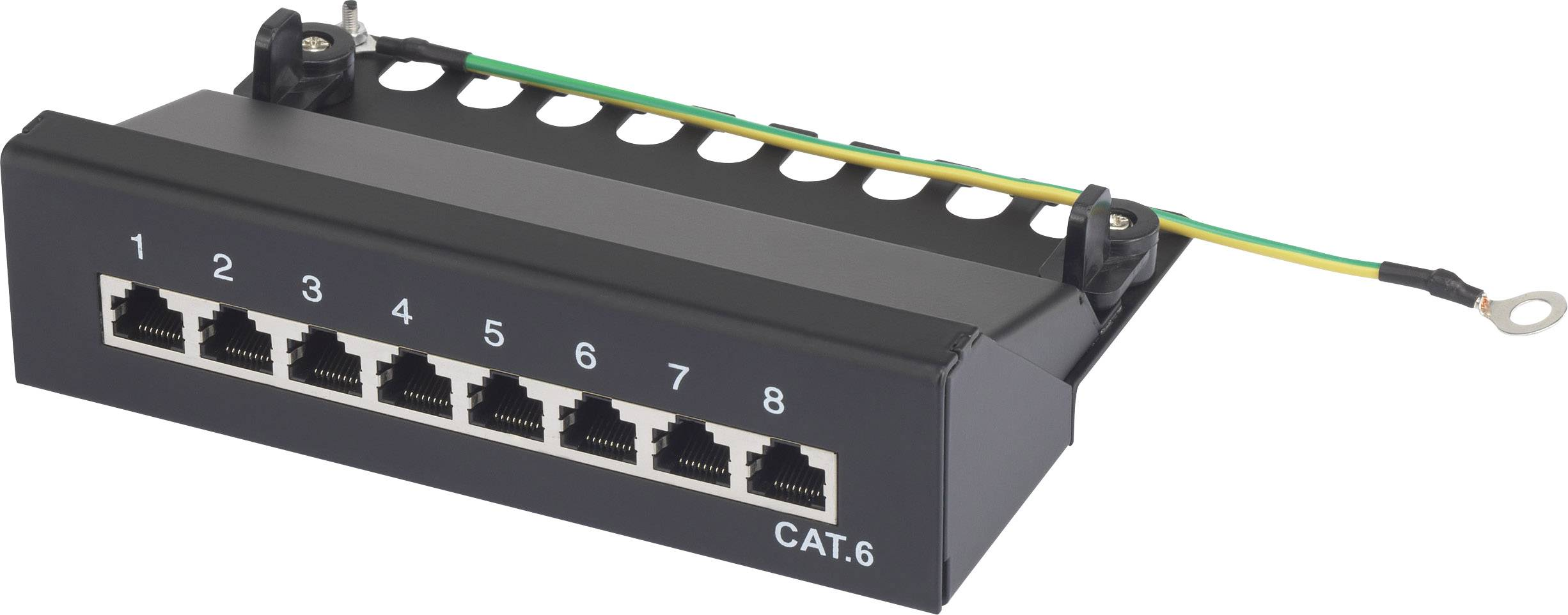 Sieťový Patchbox 8 portov Renkforce RF-4456722 CAT 6 1 U