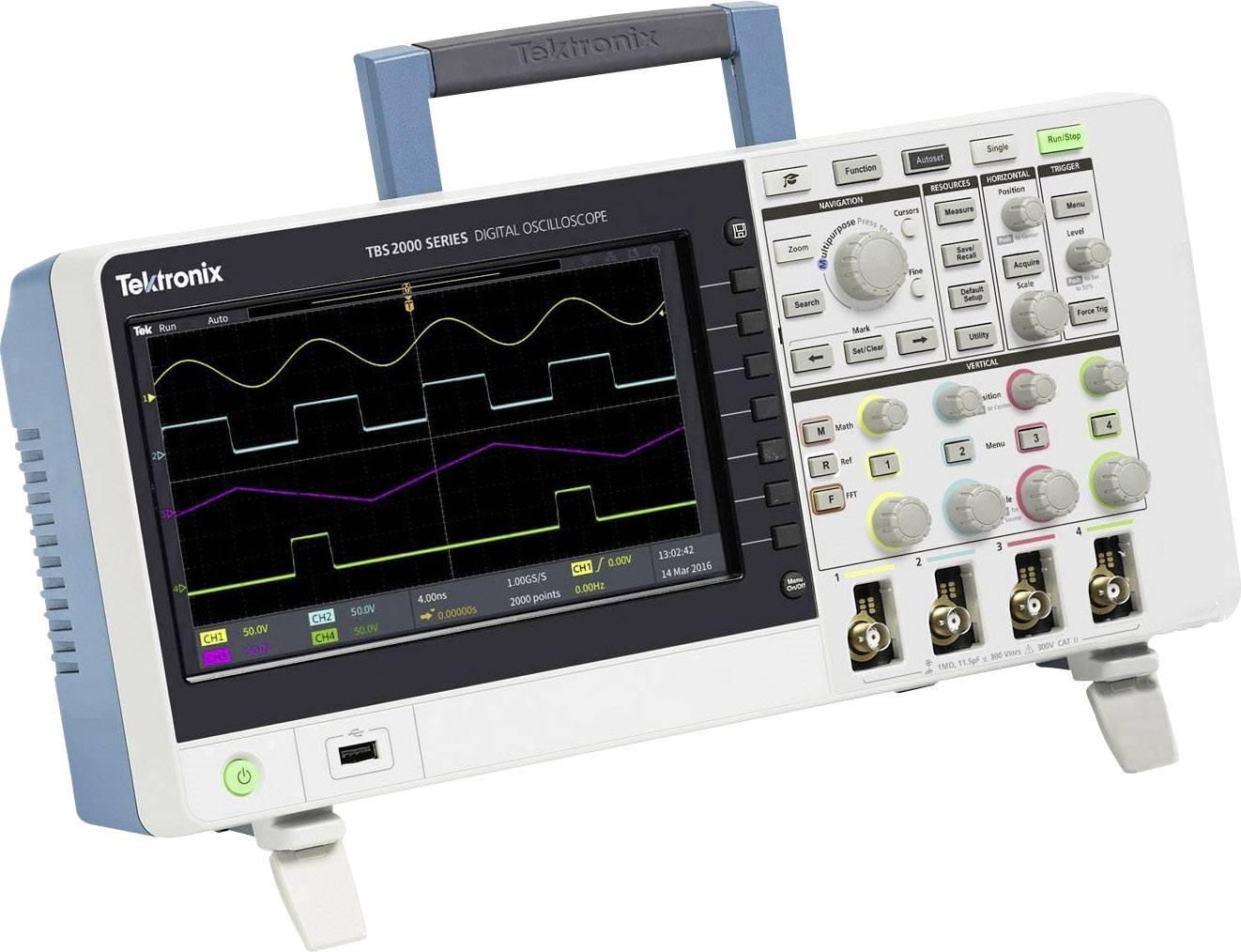 Digitální osciloskop Tektronix TBS2104, 100 MHz, Kalibrováno dle ISO, s pamětí (DSO)