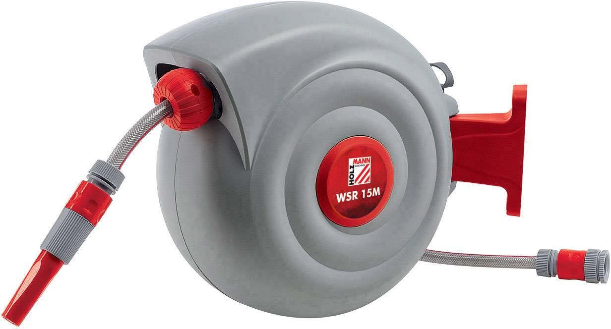 """Naviják zahradní hadice Holzmann Maschinen WSR15M, 1/2 """", 15 m, šedá, červená"""