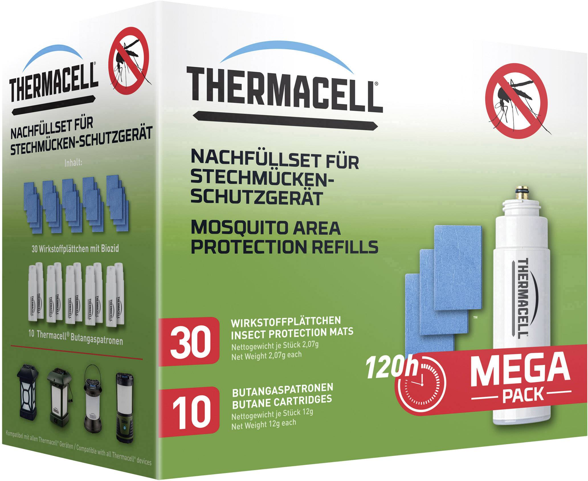 Sada náhradných náplní ThermaCell R-10, 120 hodín
