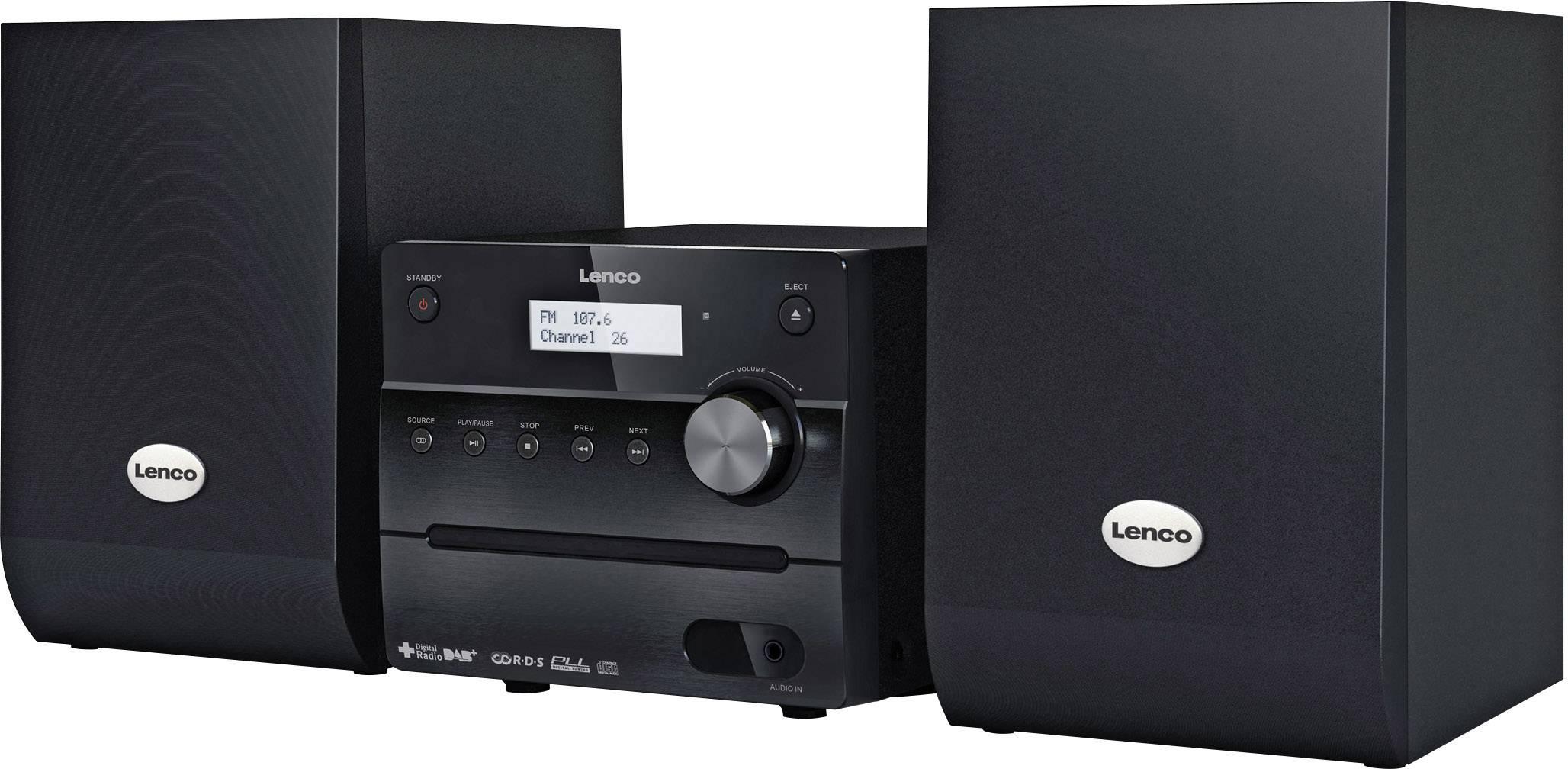 Stereo systém Lenco MC-148 DAB+, AUX, CD, DAB+, FM, 10 W, černá