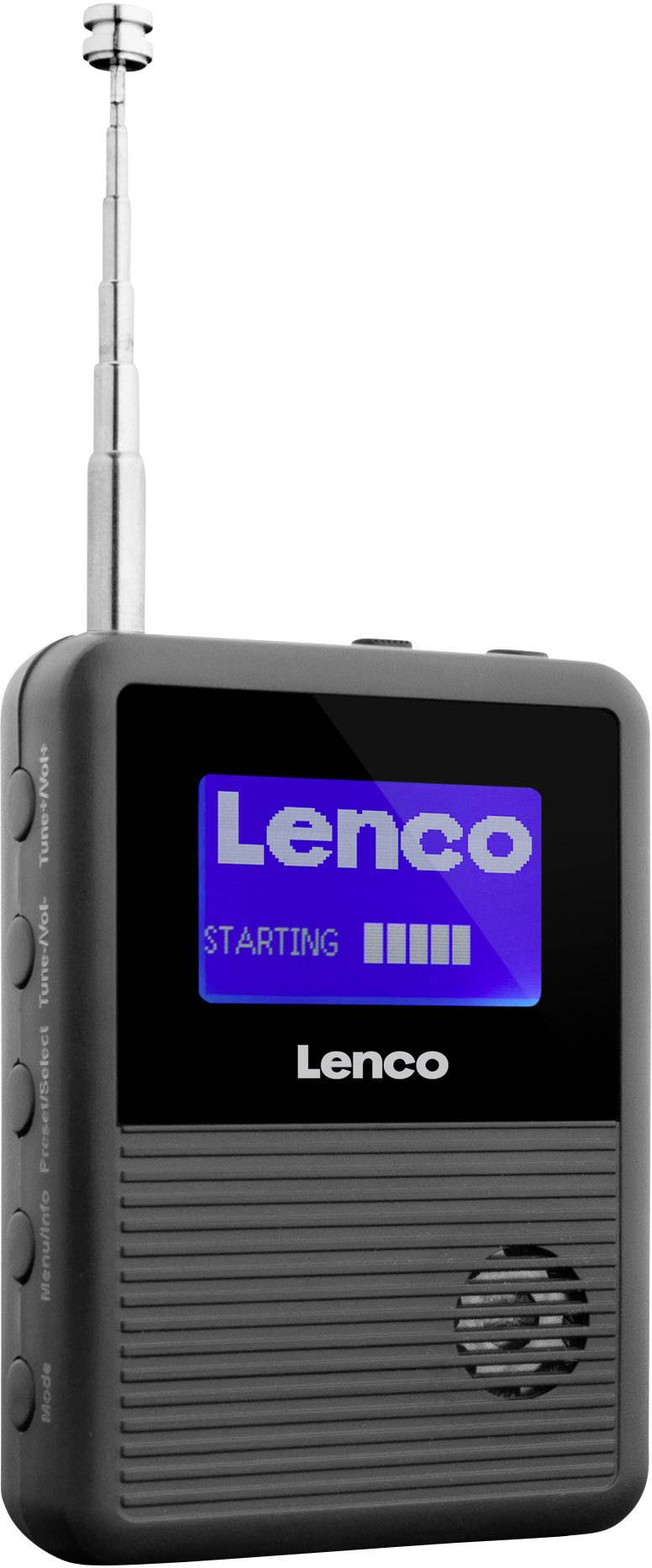 DAB+ kapesní rádio Lenco PDR-04, DAB+, FM, černá