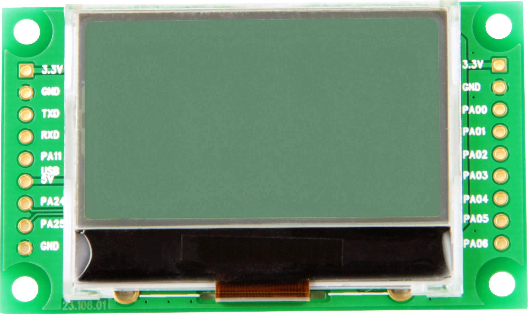 LCD displej Taskit LCD_Term15 545960, 128 x 64 pix, (š x v x h) 59.3 x 6 x 29.4 mm, čierna, svetlozelená