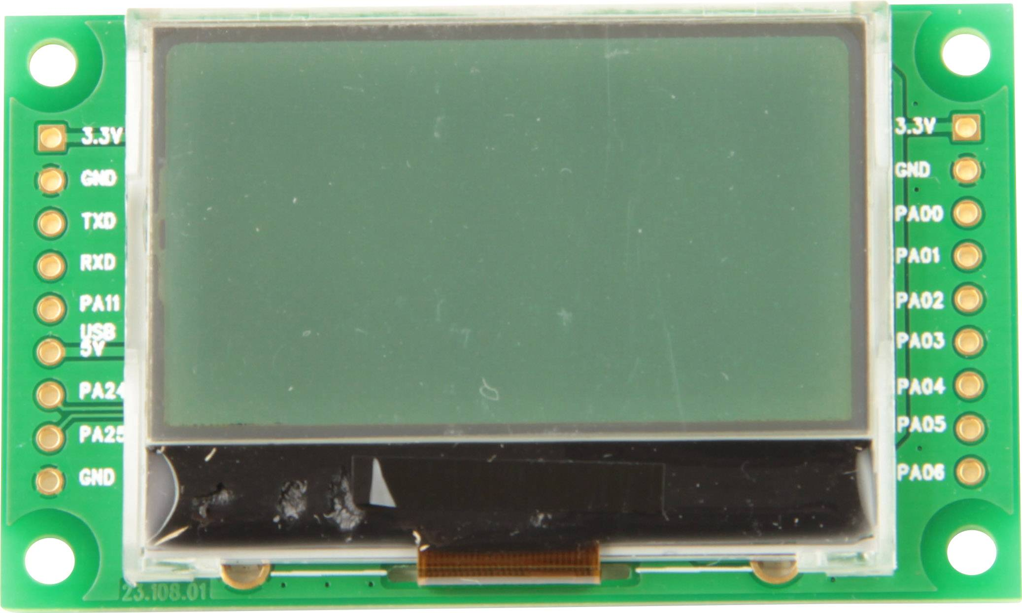 LCD displej Taskit LCD_Term12 545959, 128 x 64 pix, (š x v x h) 49.1 x 5.5 x 25 mm, černá, světle zelená