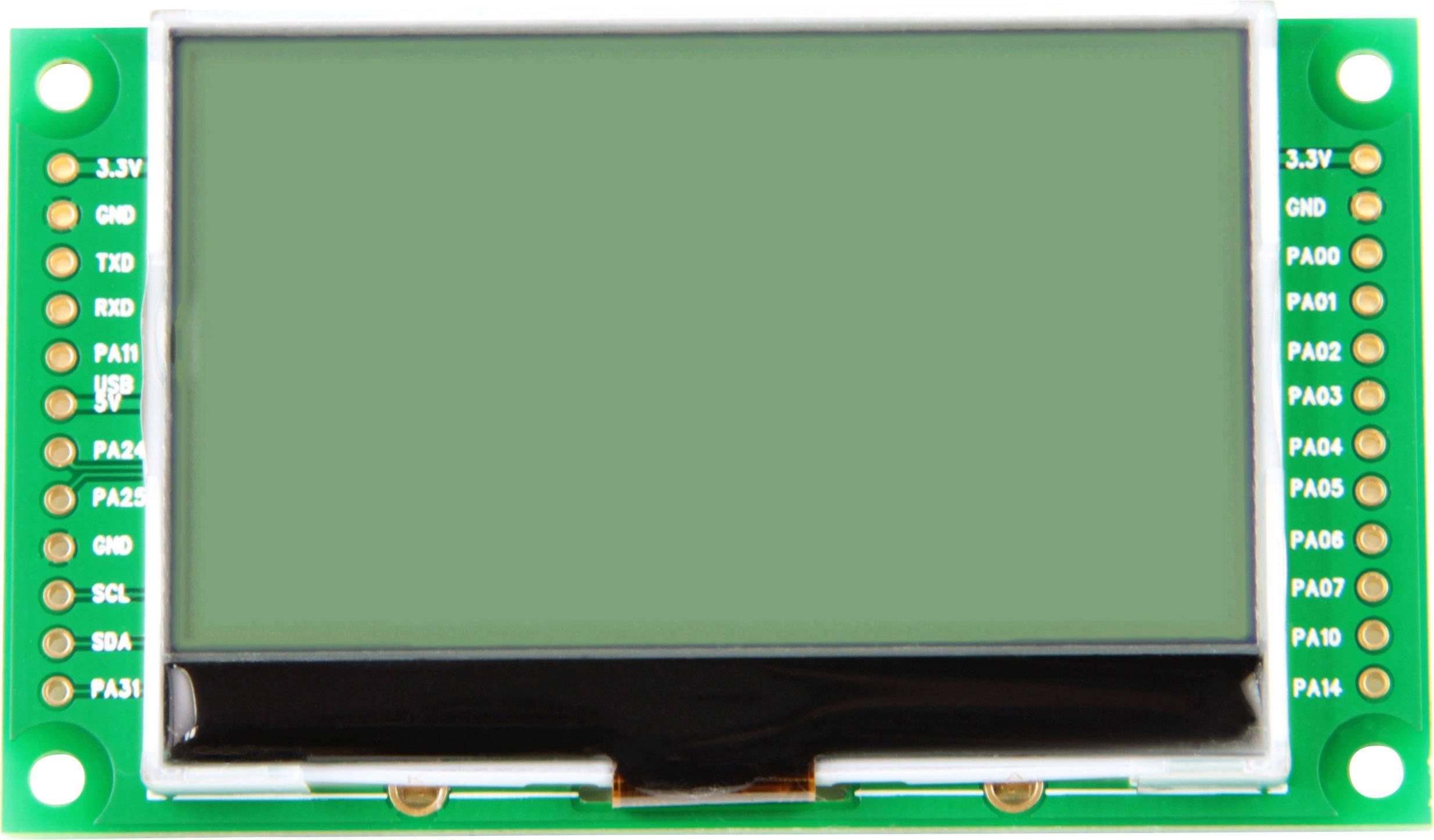 LCD displej Taskit LCD_Term25 545961, 128 x 64 pix, (š x v x h) 74.4 x 6.8 x 43.2 mm, černá, světle zelená