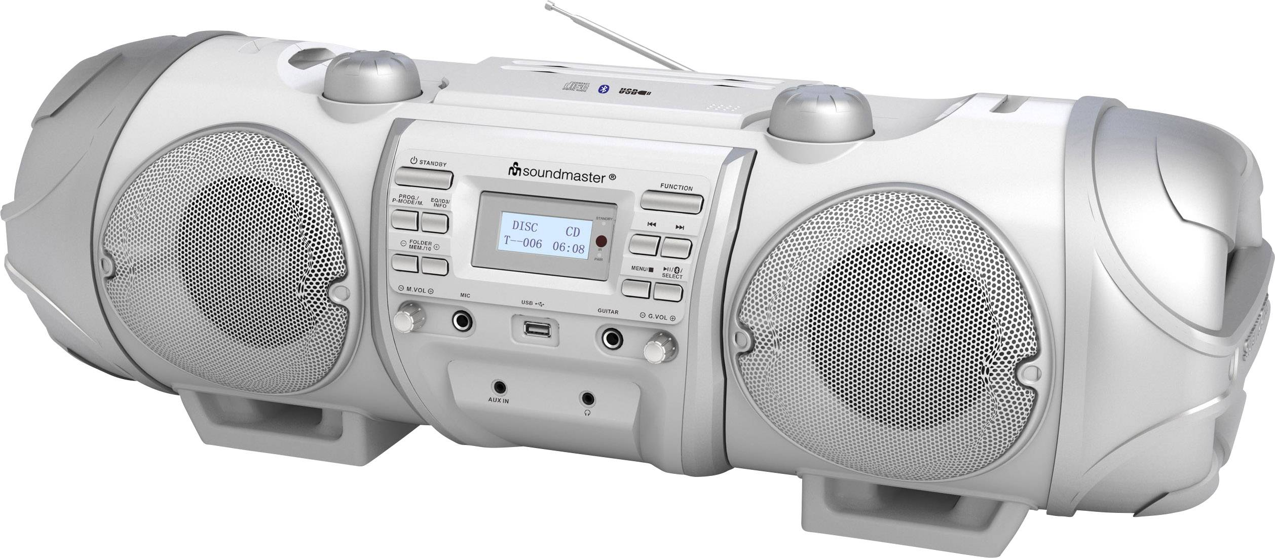 DAB+, FM štýlové rádio SoundMaster SCD8000WE, AUX, Bluetooth, CD, DAB+, UKW, USB, biela