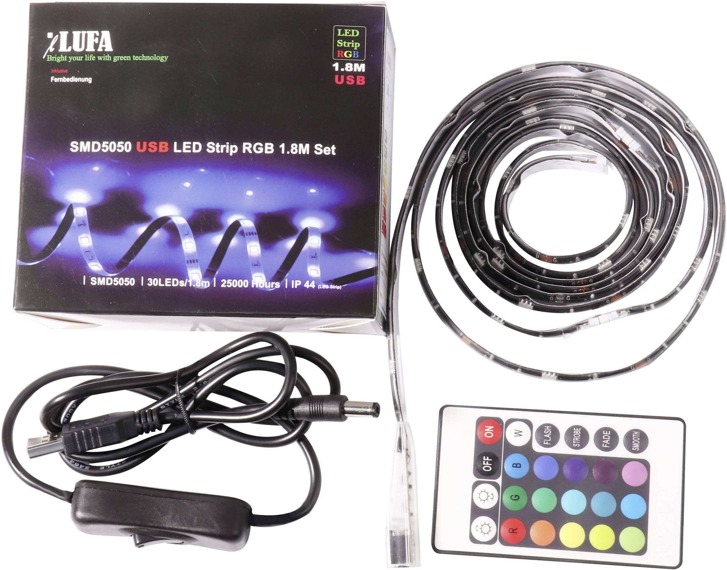 Kompletní sada LED pásků 4052899943667, 5 V, 4 W, RGB, 180 cm