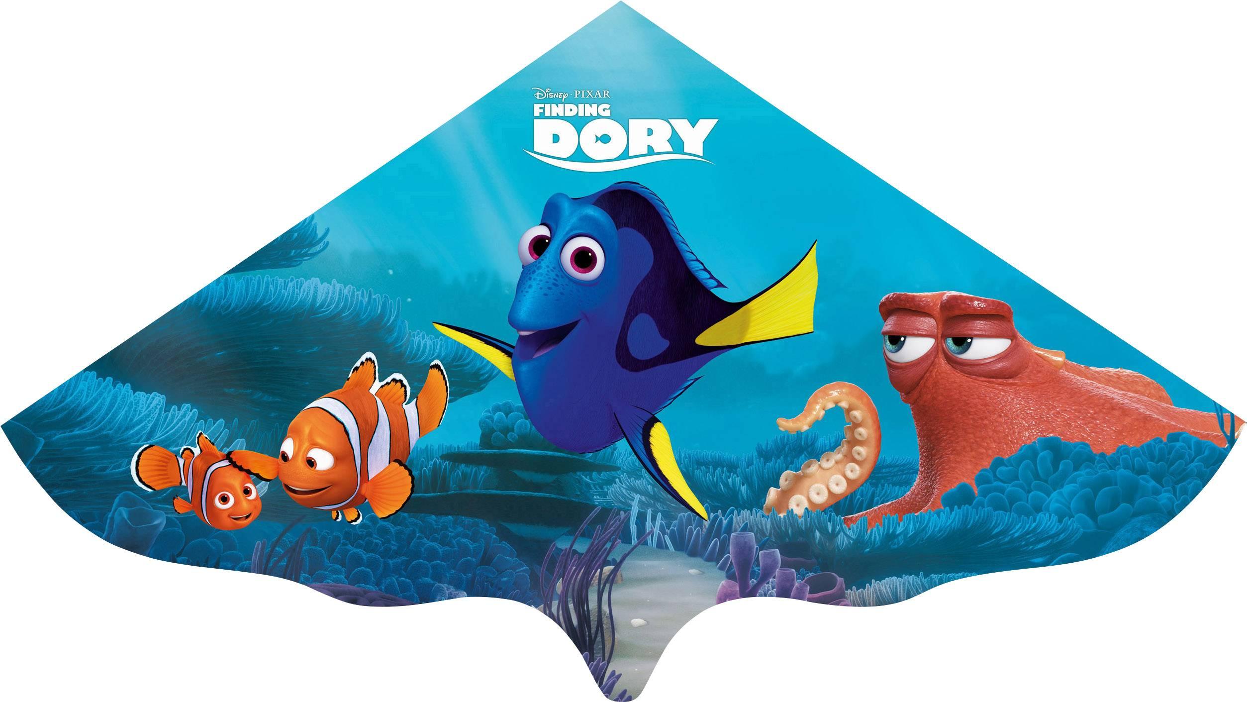 Jednošnúrový šarkan pre deti Hľadá sa Dory rozpätie 1500 mm
