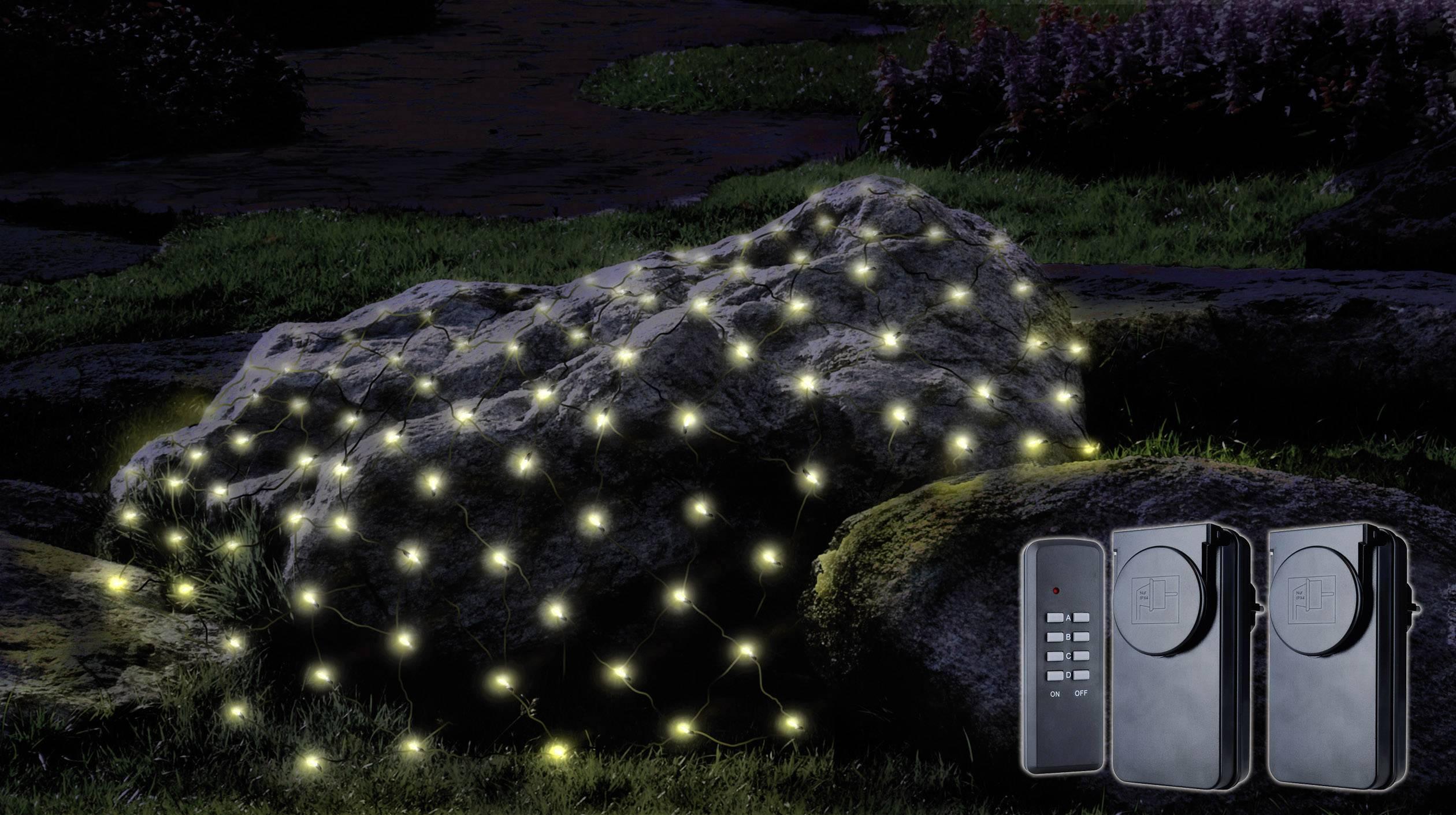 Vonkajšie LED svetelná sieť Polarlite PNL-01-003, teplá biela, 300 cm