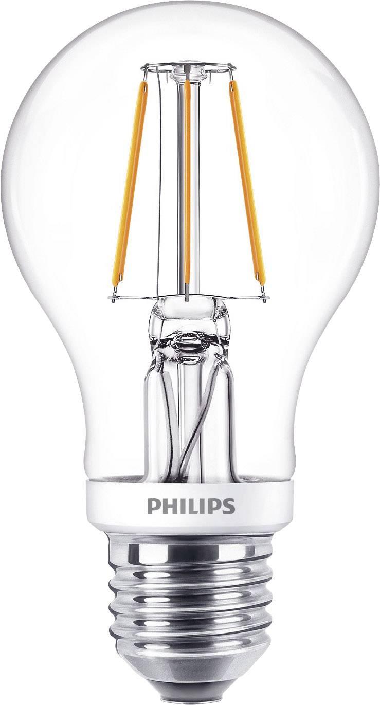 LED žárovka Philips Lighting 8718696575154 230 V, E27, 5 W = 40 W, teplá bílá, A+, stmívatelná, vlákno, 1 ks