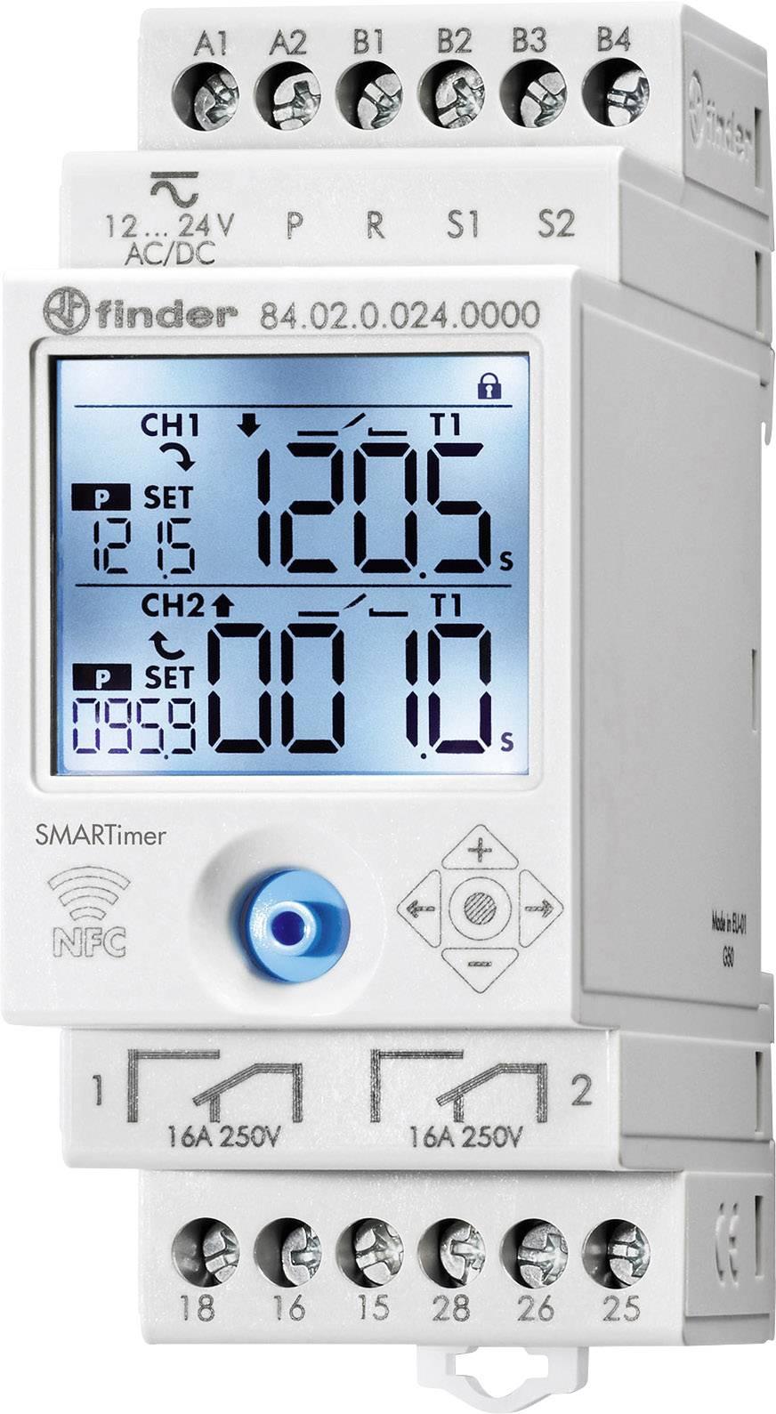 Multifunkčné časové relé Smartimer 84.02 s NFC Finder 84.02.0.024.0000 1 ks