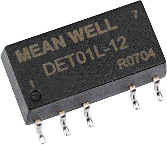DC/DC měnič napětí, SMD Mean Well DET01L-12, 5 V/DC, +12 V/DC, -12 V/DC, +42 mA, 1 W, Počet výstupů 2 x