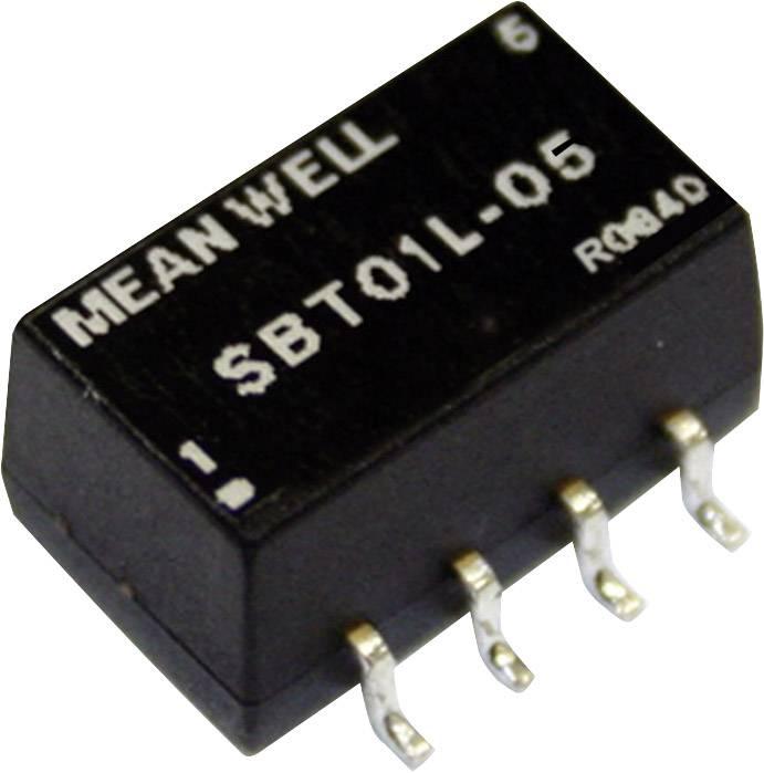 DC/DC měnič napětí, SMD Mean Well SBT01L-05, 5 V/DC, 5 V/DC, 200 mA, 1 W, Počet výstupů 1 x
