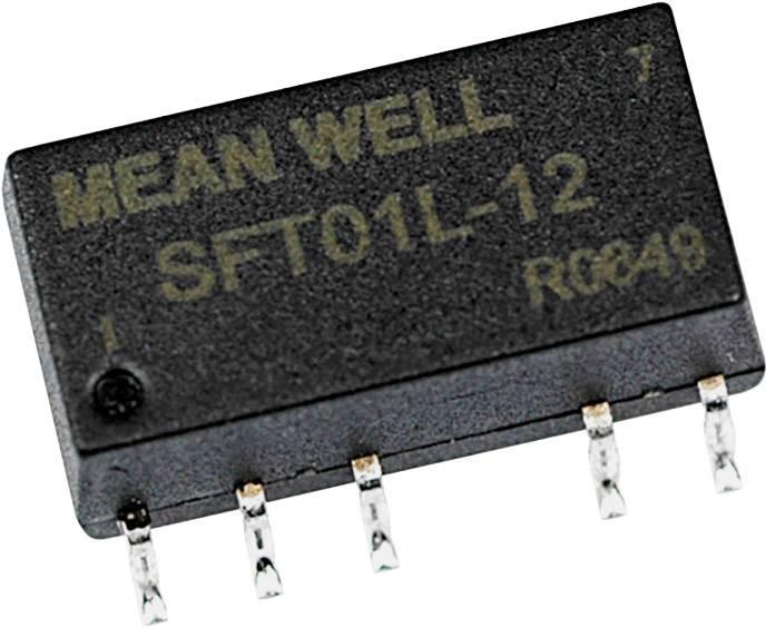 DC/DC měnič napětí, SMD Mean Well SFT01M-12, 12 V/DC, 12 V/DC, 84 mA, 1 W, Počet výstupů 1 x