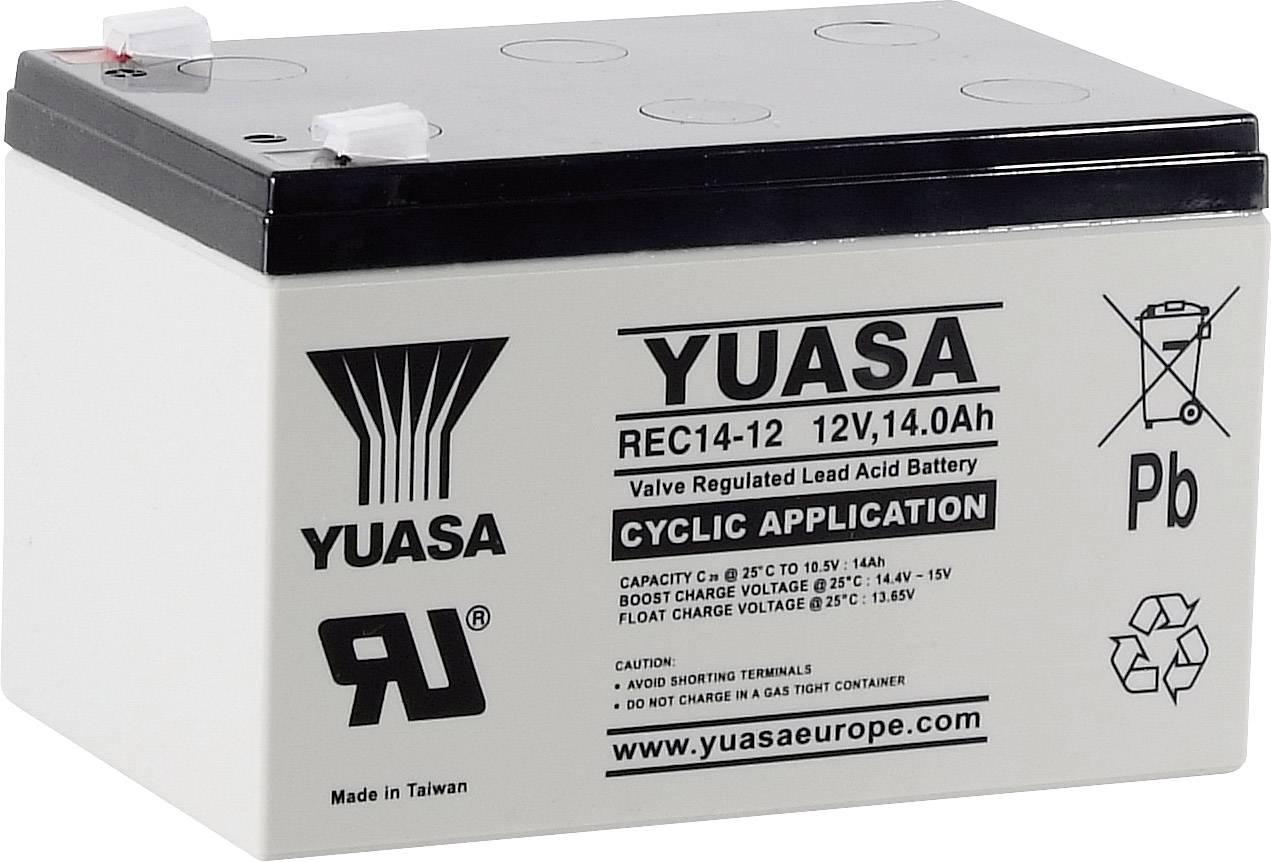 Olověný akumulátor Yuasa REC14-12 YUAREC1412, 14 Ah, 12 V