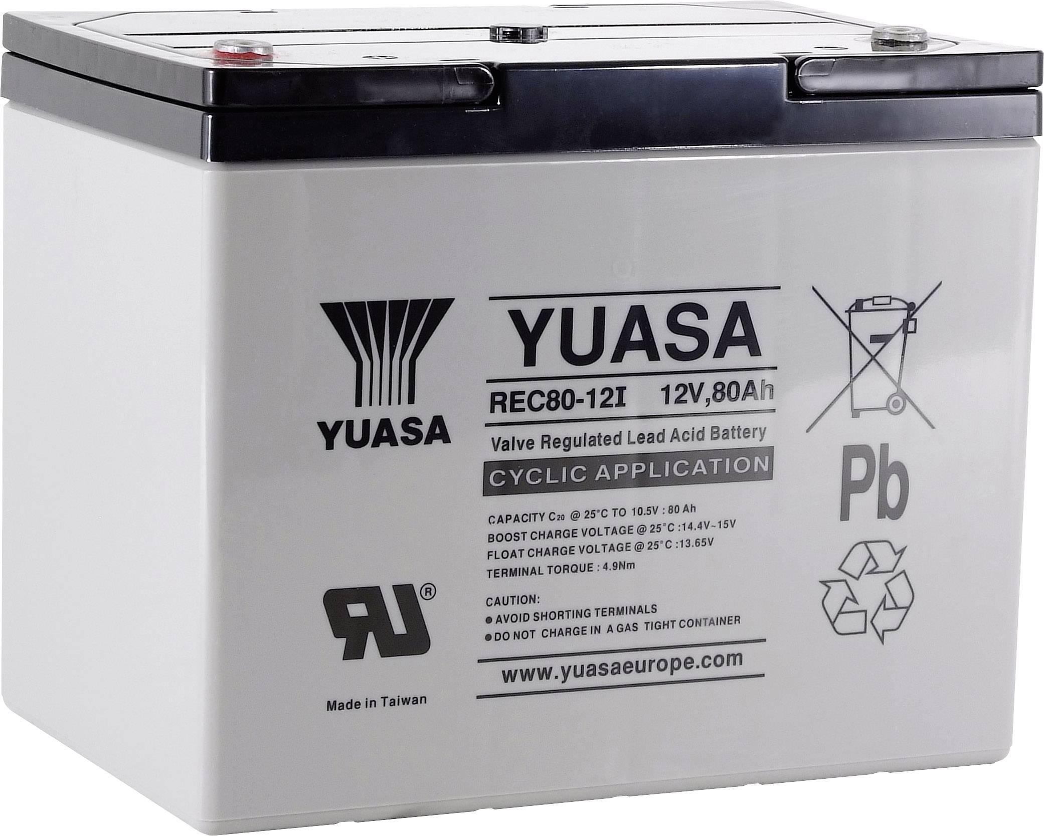 Olověný akumulátor Yuasa REC80-12 YUAREC8012, 80 Ah, 12 V