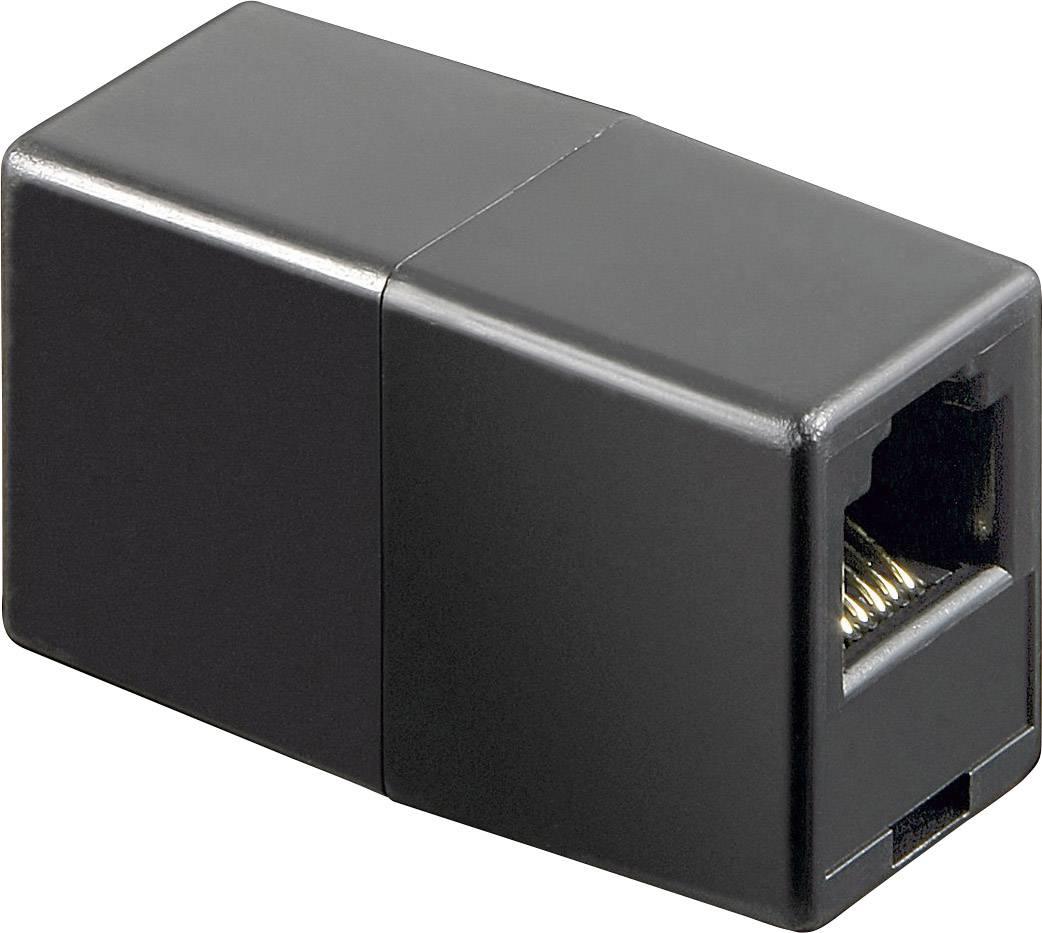 Telefonní adaptér [1x RJ12 zásuvka 6p6c - 1x RJ12 zásuvka 6p6c] černá Goobay