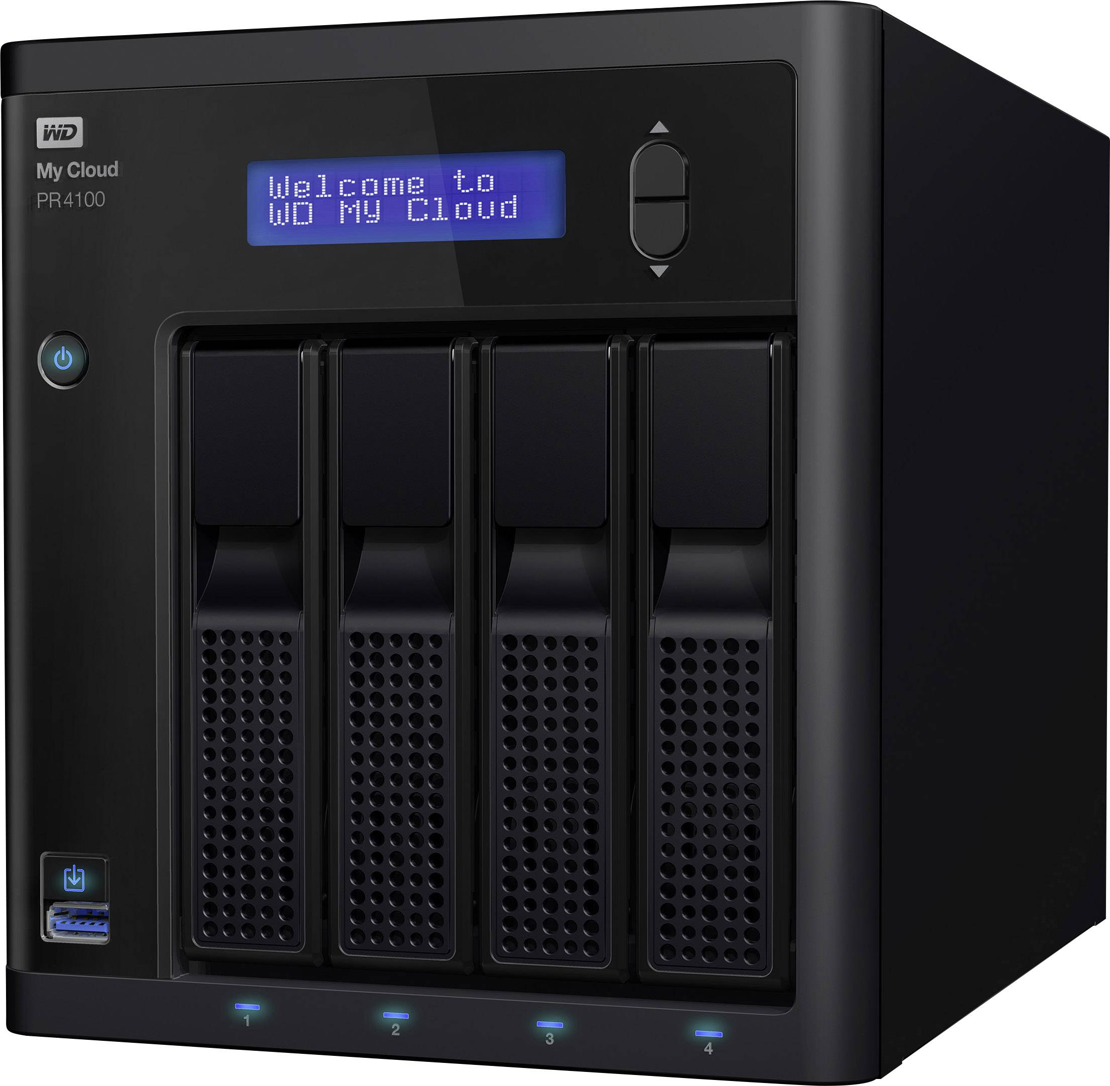 NAS server Western Digital My Cloud™ Pro PR4100 WDBNFA0080KBK-EESN, 8 TB, integrovaný dsiplej