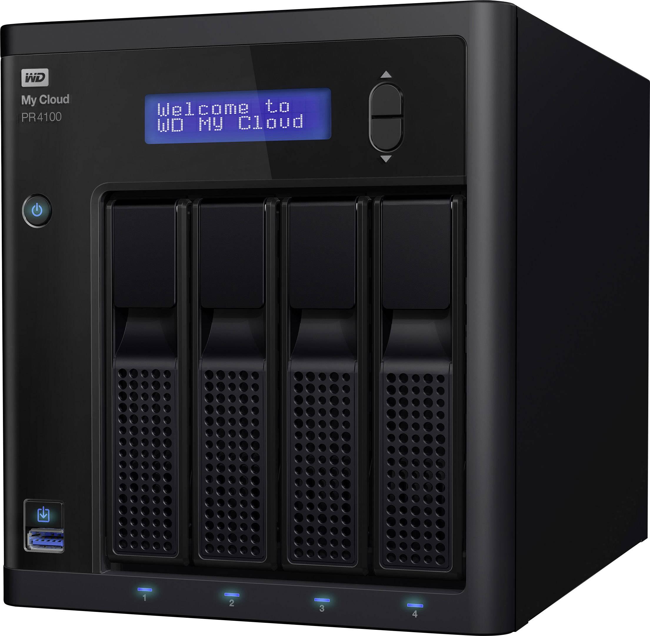 NAS server Western Digital My Cloud™ Pro PR4100 WDBNFA0160KBK-EESN, 16 TB, integrovaný dsiplej
