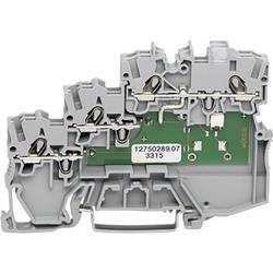 Svorka pro iniciační prvky WAGO 2000-5311/1101-951, pružinová svorka, 7 mm, šedá, 50 ks