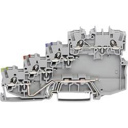 Svorka WAGO 2000-5417, pružinová svorka, 7 mm, sivá, 50 ks