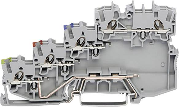 Svorka pro iniciační prvky WAGO 2000-5417, pružinová svorka, 7 mm, šedá, 50 ks