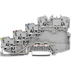 Svorka pro iniciační prvky WAGO 2000-5410, pružinová svorka, 7 mm, šedá, 50 ks