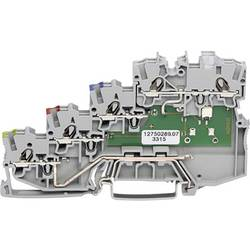 Svorka pro iniciační prvky WAGO 2000-5417/1102-950, pružinová svorka, 7 mm, šedá, 50 ks
