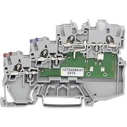 Svorka pro iniciační prvky WAGO 2000-5311/1102-950, pružinová svorka, 7 mm, šedá, 50 ks