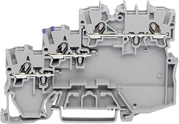 Svorka akčního členu WAGO 2000-5310/102-000, pružinová svorka, 7 mm, šedá, 50 ks