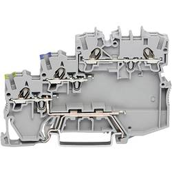 Svorka akčního členu WAGO 2000-5317/102-000, pružinová svorka, 7 mm, šedá, 50 ks
