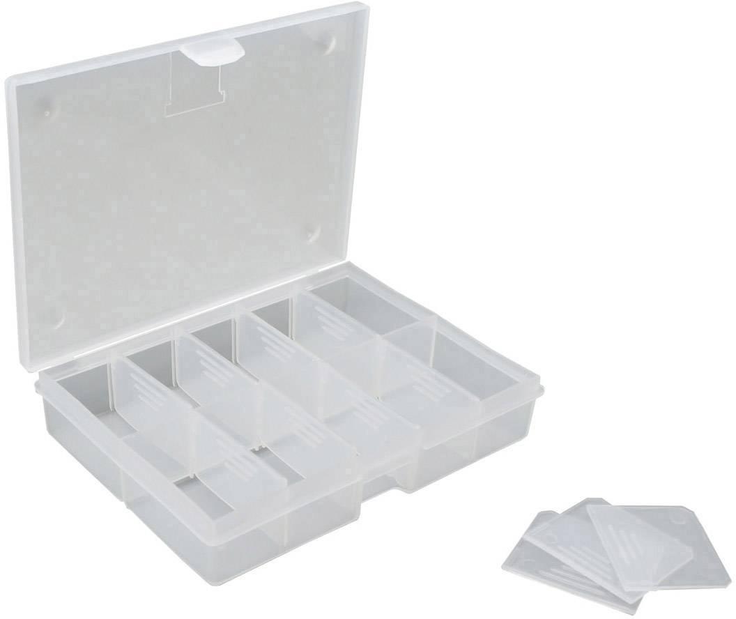 Box na součástky VISO, O100, přihrádek: 10, 130 x 100 x 30