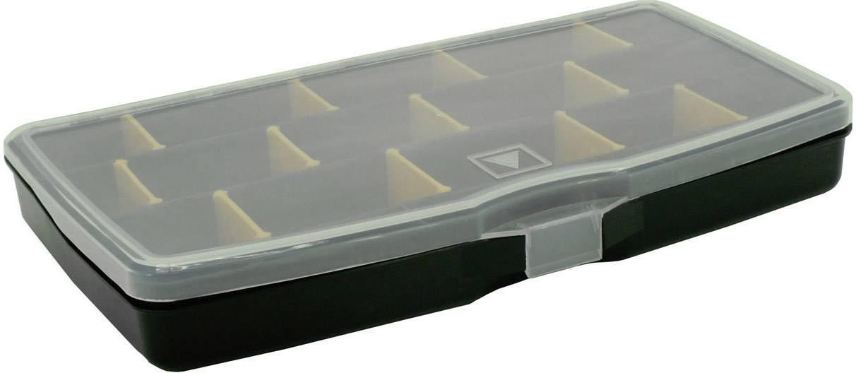 Kufřík na součástky VISO, POLY 3 S, přihrádek: 15, 305 x 180 x 40 , černá, oranžová