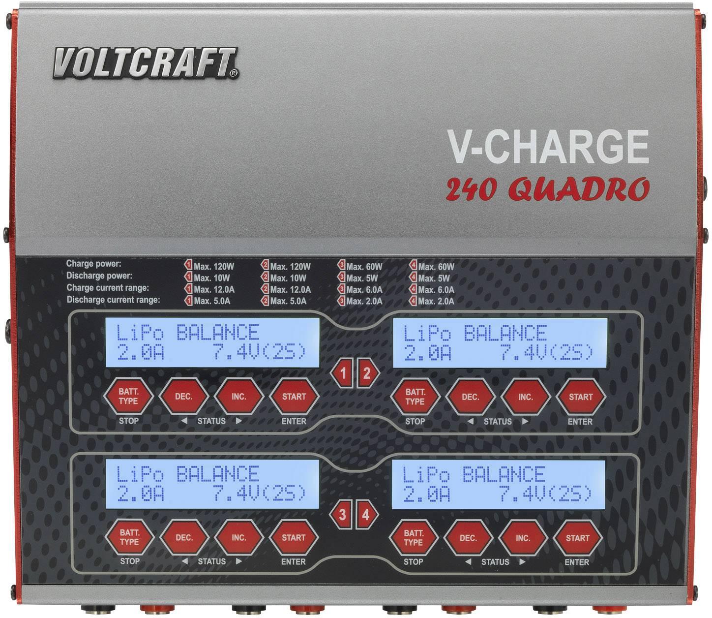 Modelářská multifunkční nabíječka VOLTCRAFT V-Charge 240 Quadro 1489899, 12 V, 230 V, 12 A