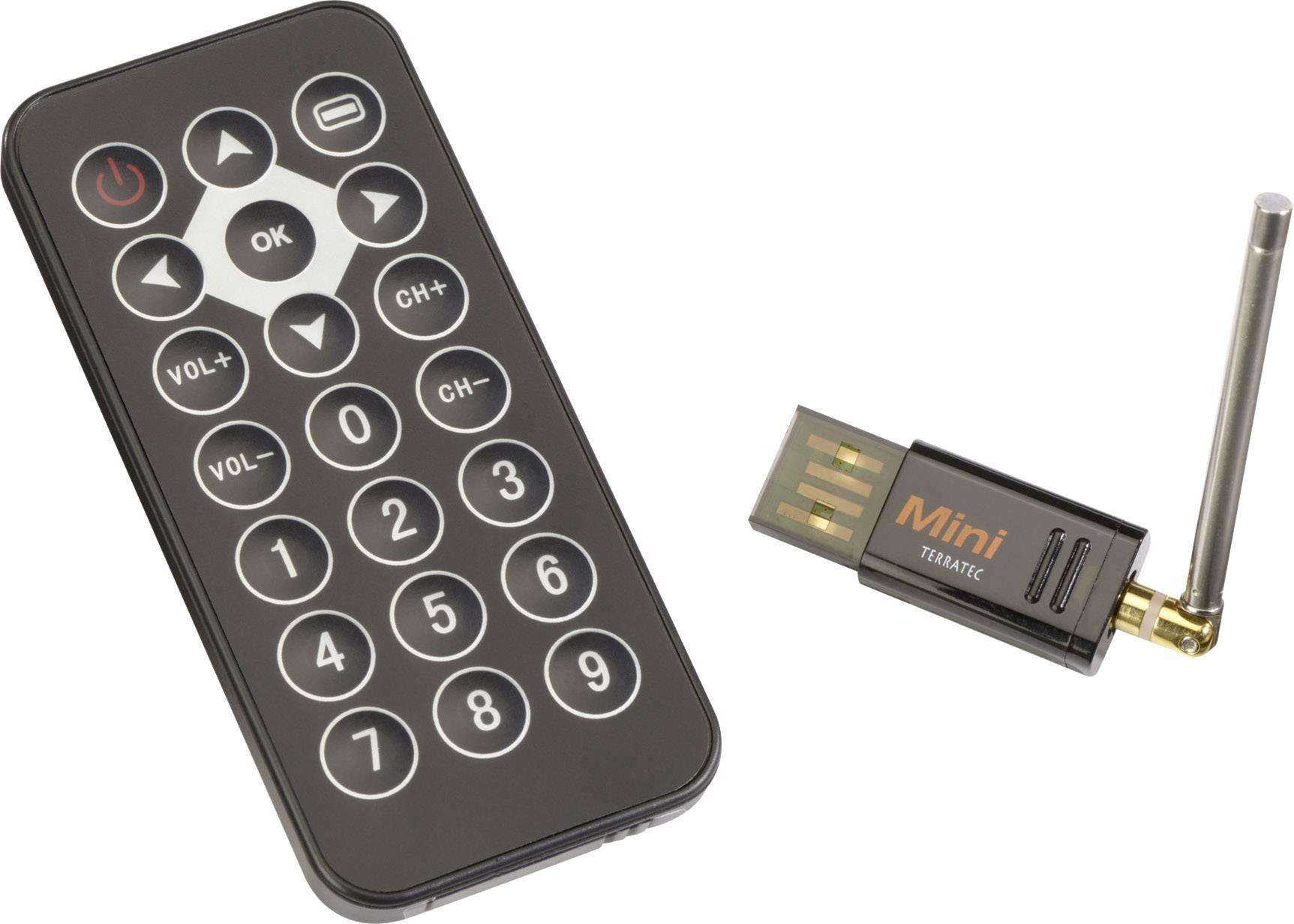 USB TV tuner DVB-T tuner Terratec CINERGY funkcia záznamu, s diaľkovým ovládaním, s DVB-T anténou