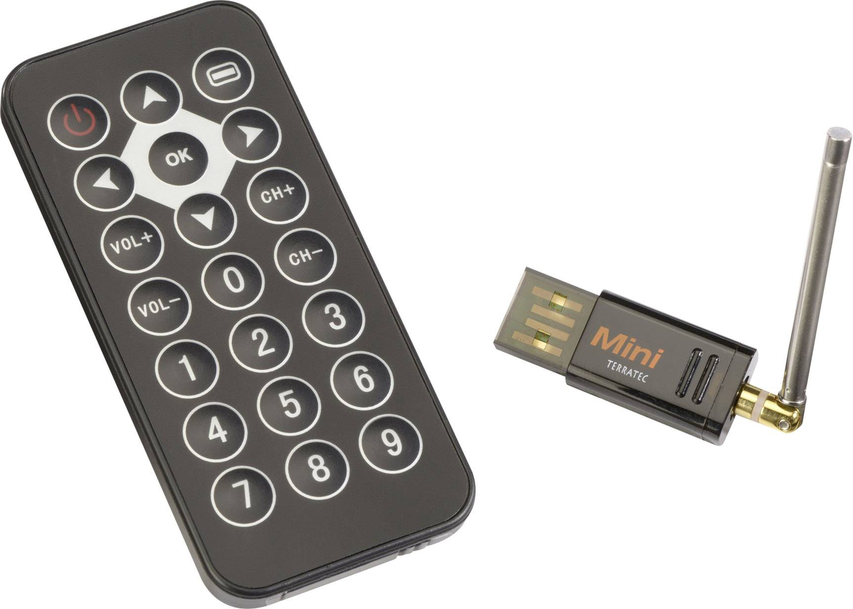 USB televizní DVB-T tuner Terratec Cinergy Mini Stick HD s dálkovým ovládáním