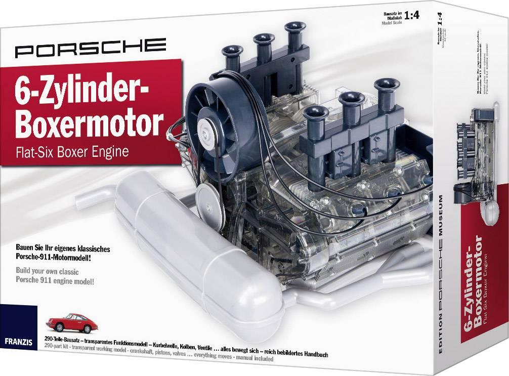 Fungujúca stavebnica motora Franzis Verlag Porsche 6-Zylinder-Boxermotor, od 14 rokov