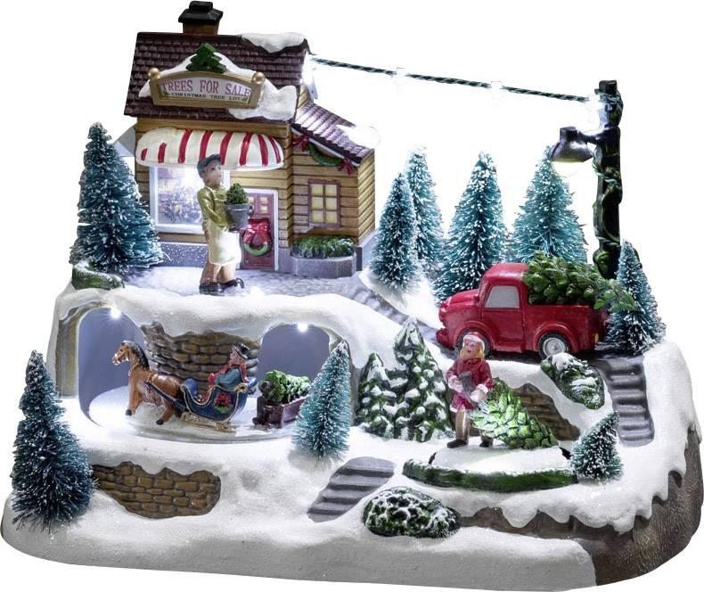 LED dekorace – scenérie s vánočním stromečkem Konstsmide 3447-000