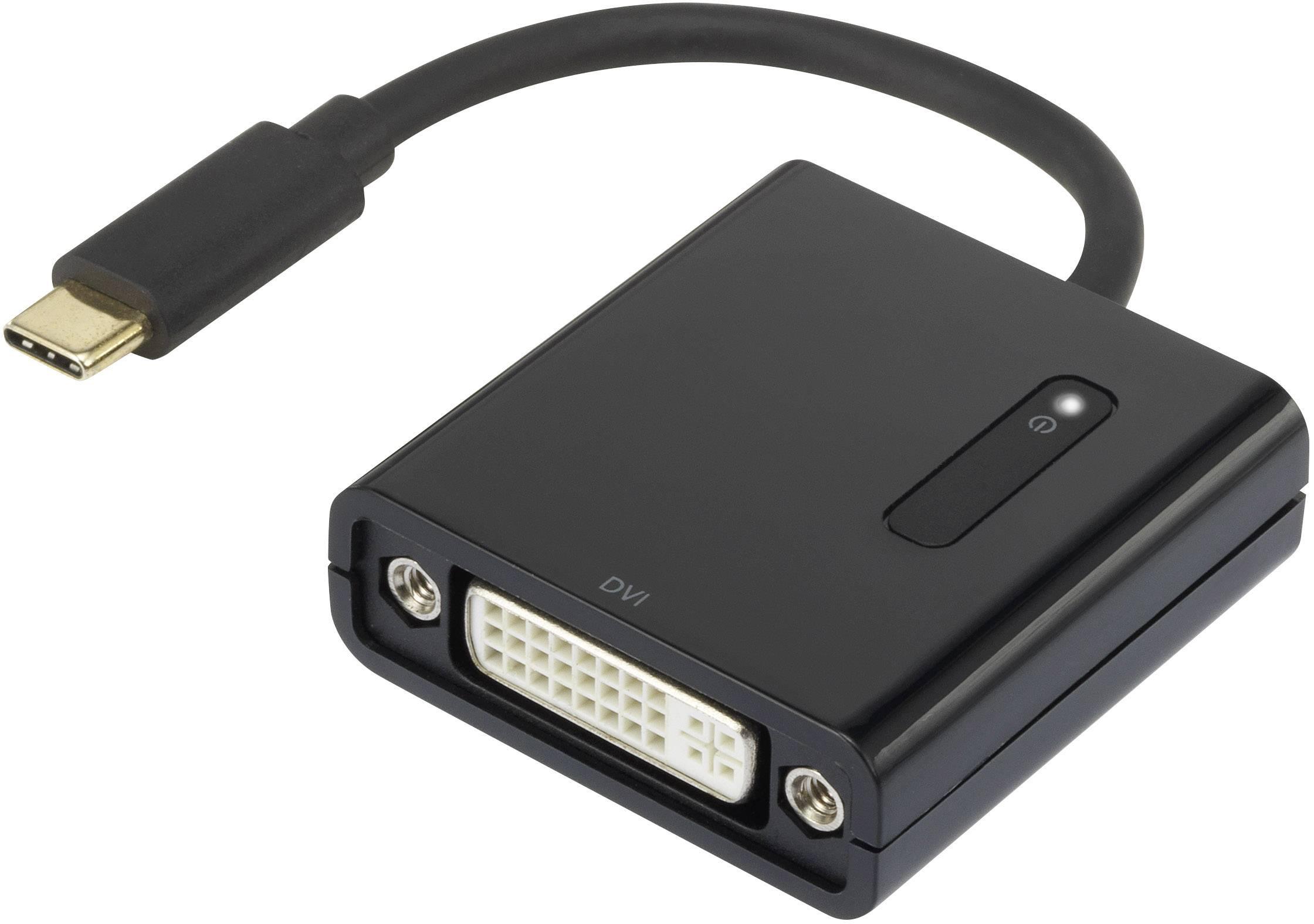USB / DVI adaptér Renkforce RF-4472895, černá