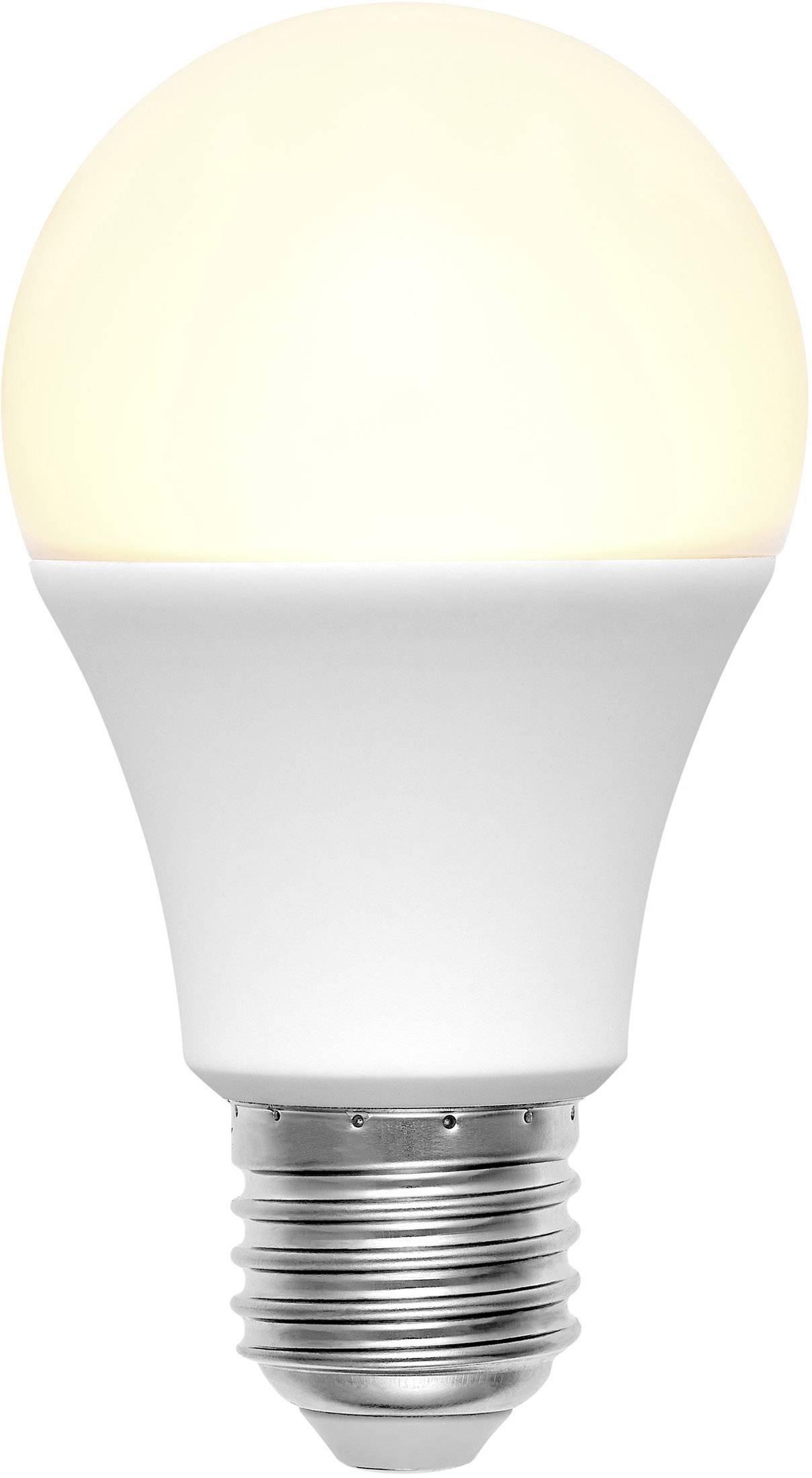 LED žárovka Basetech 1491170 230 V, E27, 9 W = 60 W, teplá bílá, A+, 1 ks