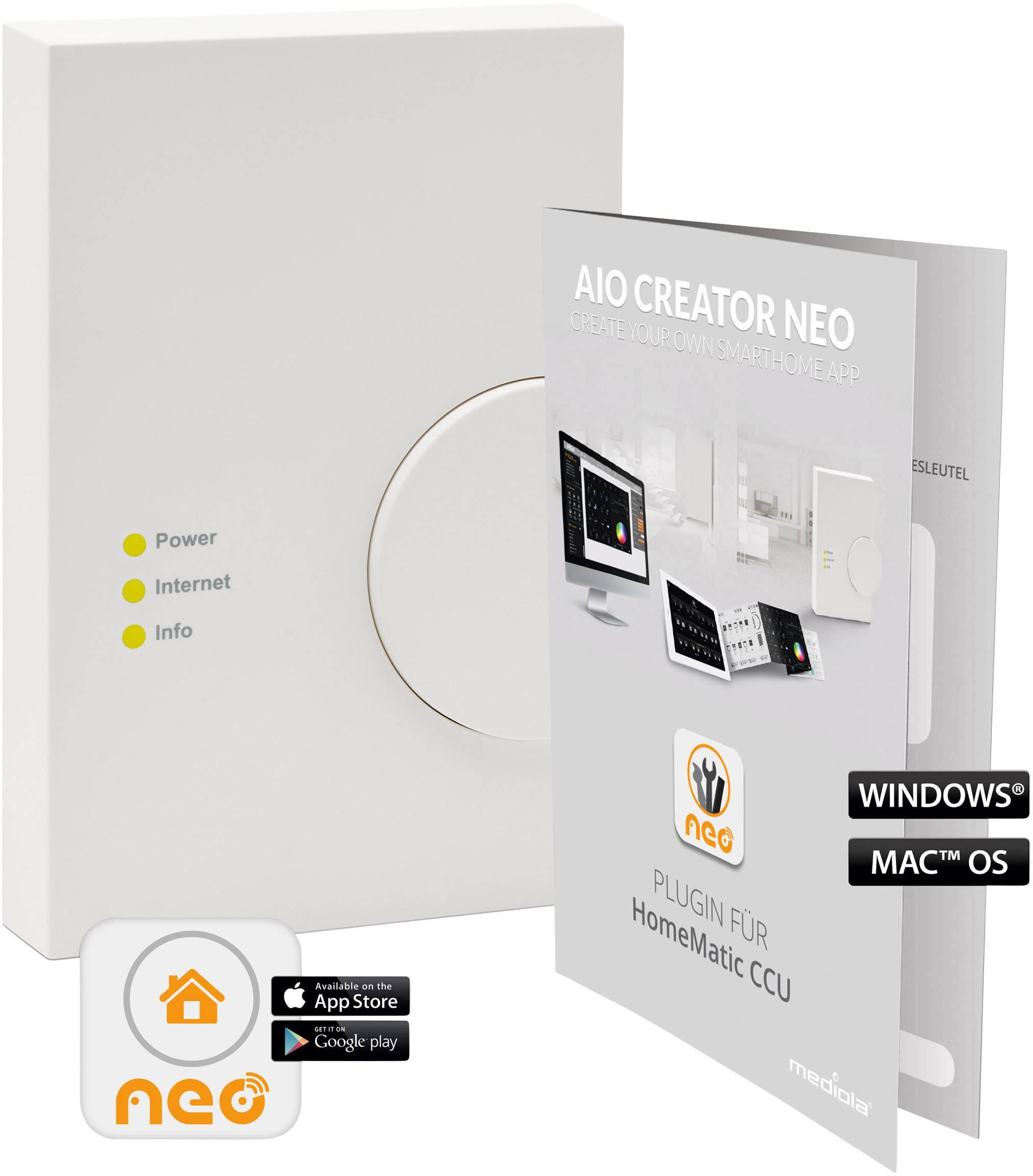 Doplňujúci software Mediola SUM-4101-b AIO CREATOR NEO HomeMatic CCU
