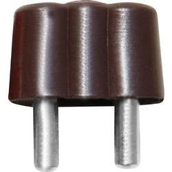 Mini banánkový konektor BELI-BECO 61/15br, Ø pin: 2.6 mm zástrčka, rovná, hnědá, 1 ks