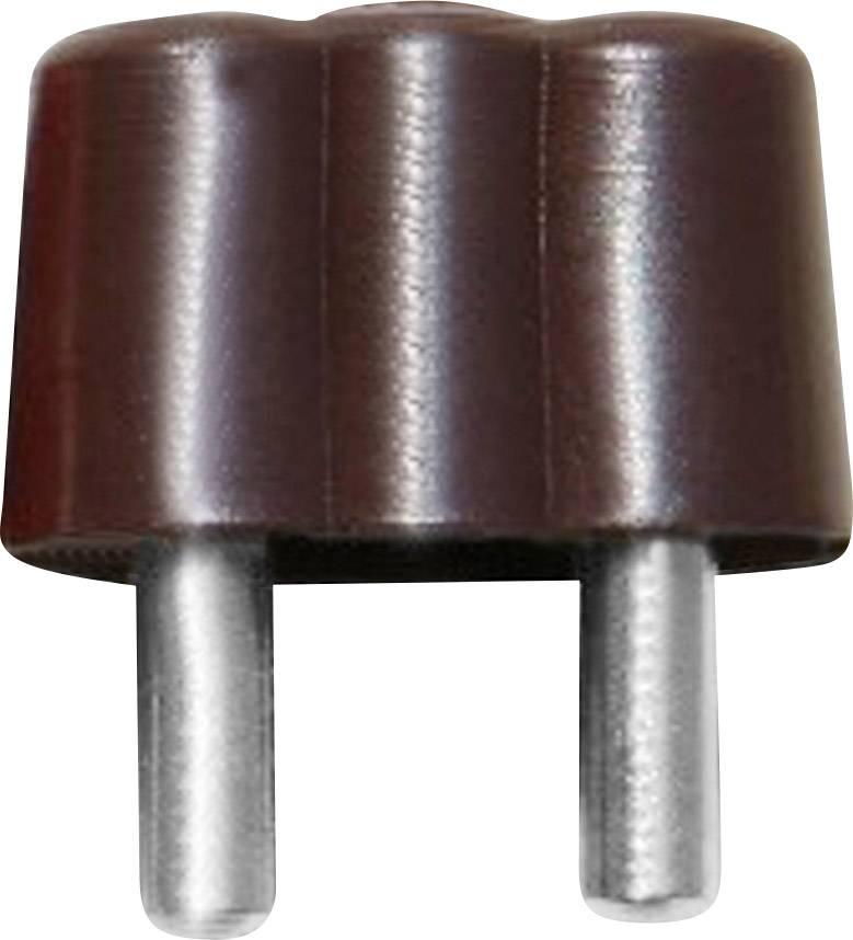 Mini banánkový konektor BELI-BECO 61/15br – zástrčka, rovná, Ø hrotu: 2.6 mm, hnedá, 1 ks
